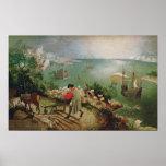 Aménagez en parc avec l'automne d'Icare, c.1555 Posters
