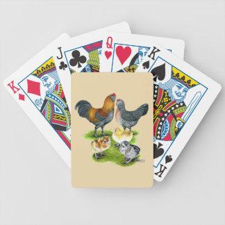 Ameraucana Huhn-Familie Spielkarten