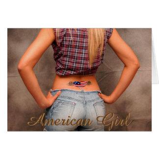 American Girl American USA Flag Tatoo Patriot Card Karte