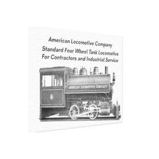American Locomotive Company 0-4-0 T Galerie Gefaltete Leinwand