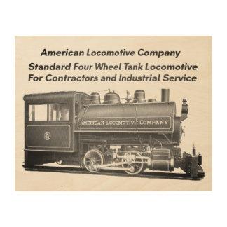 American Locomotive Company 0-4-0 T Holzdrucke