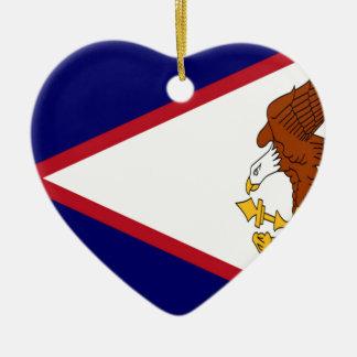 American- Samoaflagge Keramik Ornament