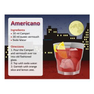 Americano Rezept-Karte Postkarte