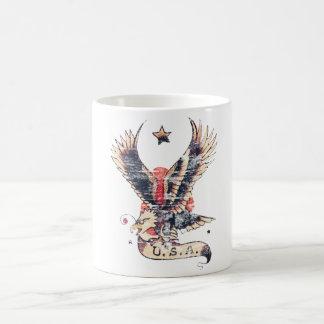 Amerika-Adlertätowierungskunst Kaffeetasse