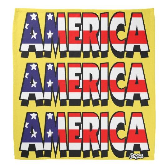 Amerika! BANDANA-GOLD! Halstücher