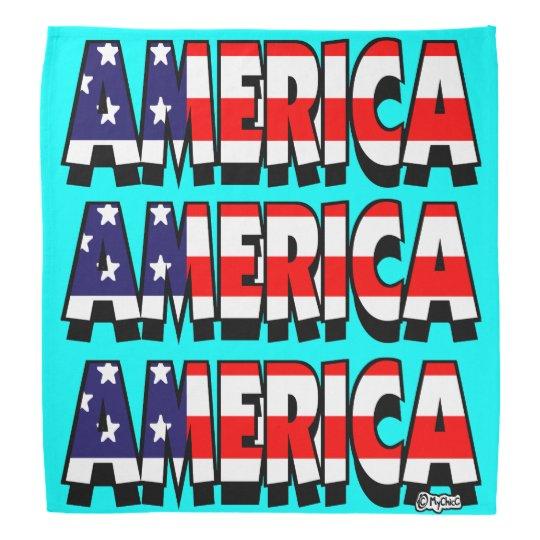 Amerika! BANDANA-MINZE! Kopftücher