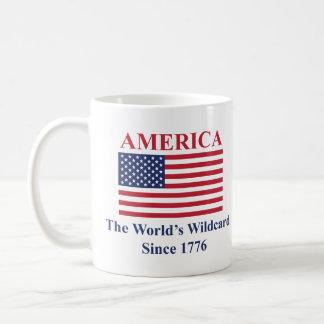Amerika die Wildcard der Welt seit 1776 Kaffeetasse