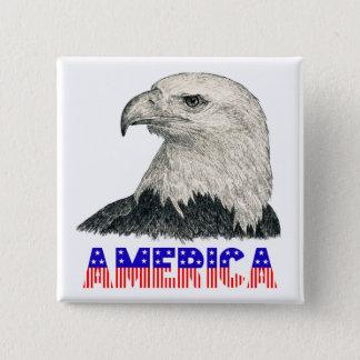 Amerika Eagle Quadratischer Button 5,1 Cm