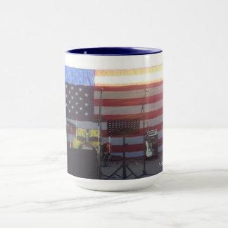Amerika-Flaggen-Musik-Tasse Tasse