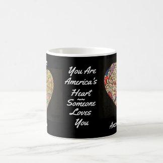 Amerika ist Herz-Tasse Kaffeetasse