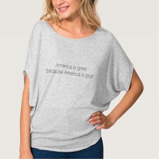 Amerika ist, weil Amerika gut ist - Flowy groß T-Shirt