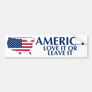 Amerika, Liebe verlässt es oder es Autoaufkleber