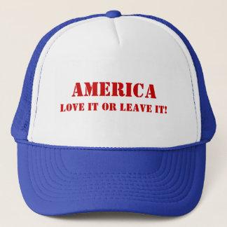 Amerika, Liebe verlässt es oder es! Truckerkappe