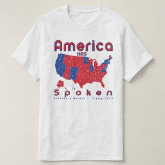 Amerika spricht roten weißen blauen Donald- TrumpT T-Shirt