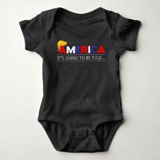 Amerika wird es Yuge Baby-Bodysuit sein Baby Strampler