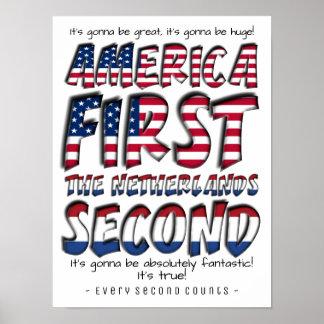 Amerika zuerst die niederländische zweite poster