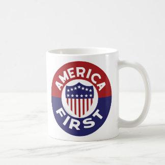 AMERIKA ZUERST! Patriotische Retro Kolonien der Kaffeetasse