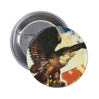 Amerikaner-Eagle-Knopf Runder Button 5,7 Cm