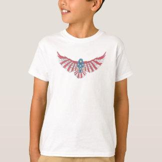 Amerikaner färbt Eagle T-Shirt