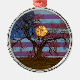 Amerikaner November Supermoon Rundes Silberfarbenes Ornament