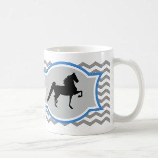 Amerikaner Saddlebred Tasse - Grau und Blau