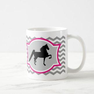 Amerikaner Saddlebred Tasse - Grau und Rosa