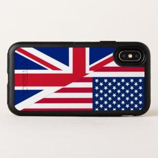Amerikaner-und Gewerkschafts-Jack kennzeichnen OtterBox Symmetry iPhone X Hülle