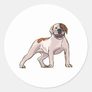 Amerikanische Bulldogge, png Runder Sticker