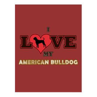 Amerikanische Bulldogge Postkarte