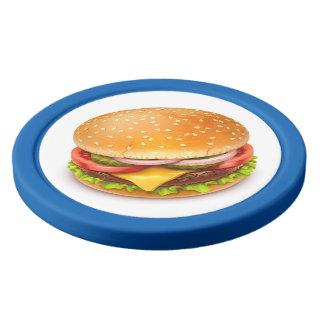Amerikanische Burger-Lehm-Poker-Chips Poker Chips Set