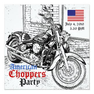 Amerikanische Chopper-am 4. Juli Party Einladung