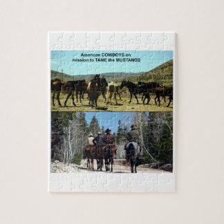 Amerikanische Cowboys auf Reise zu den