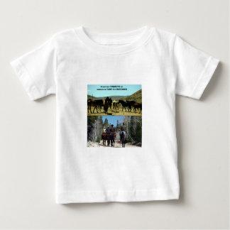 Amerikanische Cowboys auf Reise zu den Baby T-shirt