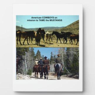 Amerikanische Cowboys auf Reise zu den Fotoplatte