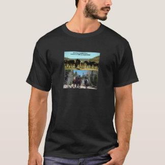 Amerikanische Cowboys auf Reise zu den T-Shirt