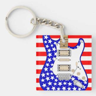 Amerikanische E-Gitarre Schlüsselanhänger