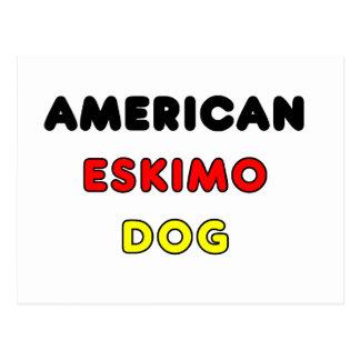 amerikanische Eskimoflagge im Namen Postkarte