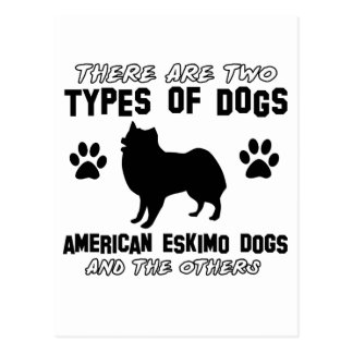 Amerikanische Eskimohundehundeentwürfe Postkarte