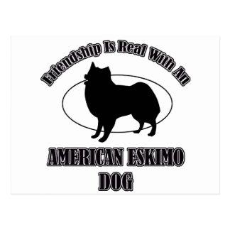 AMERIKANISCHE ESKIMOhundehundeentwürfe Postkarten