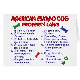 AMERIKANISCHE ESKIMOhundeigentums-Gesetze 2 Karte