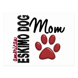 Amerikanische Eskimohundemamma 2 Postkarte