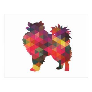 Amerikanische EskimohundeSilhouette-Entwürfe Postkarte