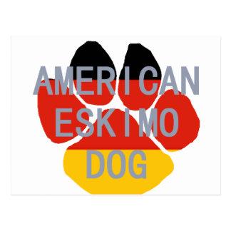 amerikanische Eskimonamensflaggentatze Postkarte