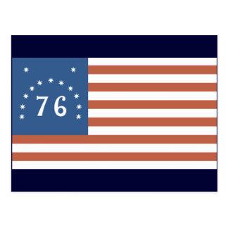 Amerikanische Flagge 1776 Postkarte