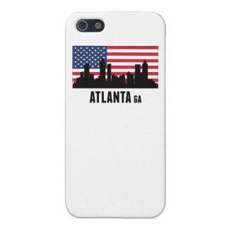 Amerikanische Flagge Atlantas GA iPhone 5 Hüllen
