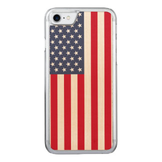 Amerikanische Flagge carved® Ahorn iPhone 7 Carved iPhone 7 Hülle