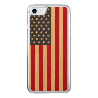 Amerikanische Flagge Carved® KirscheiPhone 7 Carved iPhone 7 Hülle