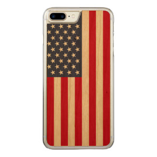 Amerikanische Flagge Carved® KirscheiPhone 7 Carved iPhone 7 Plus Hülle