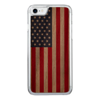 Amerikanische Flagge carved® Walnuss iPhone 6 Carved iPhone 7 Hülle