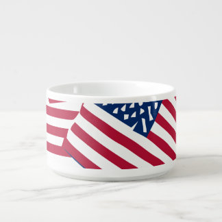 Amerikanische Flagge in der Deckung Schüssel